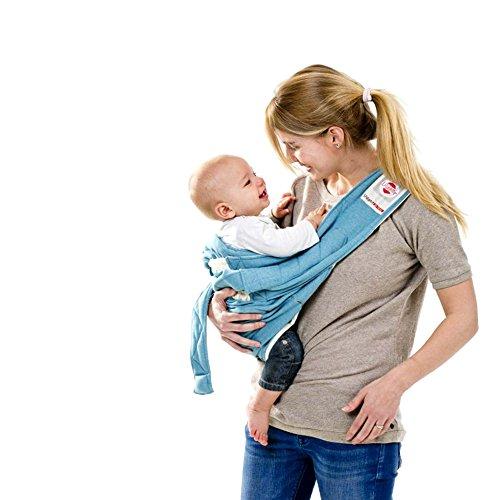 Lodger Shelter 2.0 - 3in1 Babytrage, Babytragetuch, Babysling sowie Transportdecke ab Geburt bis 18M (max. 12kg)
