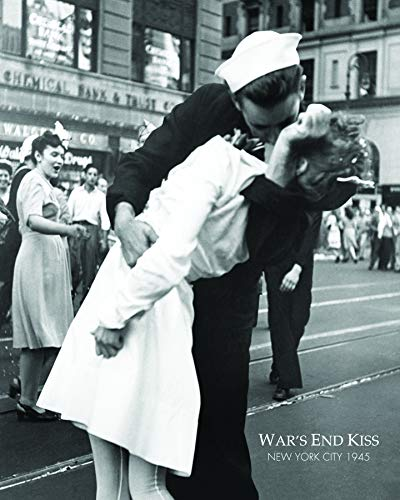 Wars End Kiss (Culturenik Poster New York City War's End Kiss The War Goodbye Romance Vintage 8 X 10 Mylar Frame for Desk Wall)