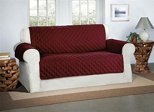 Copridivano color borgogna / vino 2 posti - sofa salotto protettore imbottito mobili copertura divano