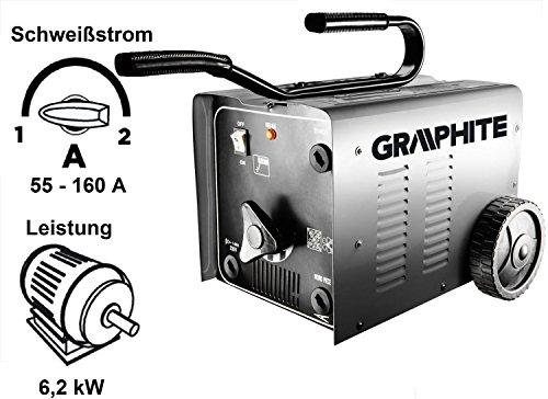 Elektro Elektroden Schweißgerät Schweißtransformator Schweißtrafo Trafo Schweißstrom 55-160A Stromstärke: 48V Spannung: 230V