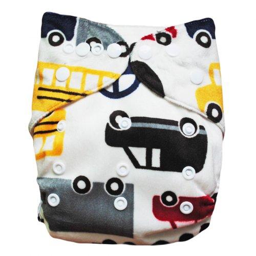 Baby Vivo Baby Bambus Windel Stoffwindel Babytuch Kinderwindel Windel Bambuswindel Mehrzweck Windel Waschbar Wiederverwendbar mit 2 Einlagen - Cars