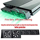 XiuFen for PS4 5-Fan Playstation Cooling External Turbo Temperature Control Cooler