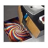 Vitila Kreative Anti-Rutsch-Aufkleber Dekoration Wohnzimmer Schlafzimmer Badezimmer Persönlichkeit 3D Wandaufkleber Psychedelischen Farbstreifen Selbstklebende Poster Pvc Abnehmbare Tapete Wandtattoos