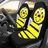 Coperture per Auto Grande Ape Vespa Bumblebee Honeybee Insetto Miele Giallo Universal Fit Auto Coprisedili per Auto Protezione per Camion Auto SUV Veicoli Donne Lady (2 Anteriori) Coprisedili per Rag