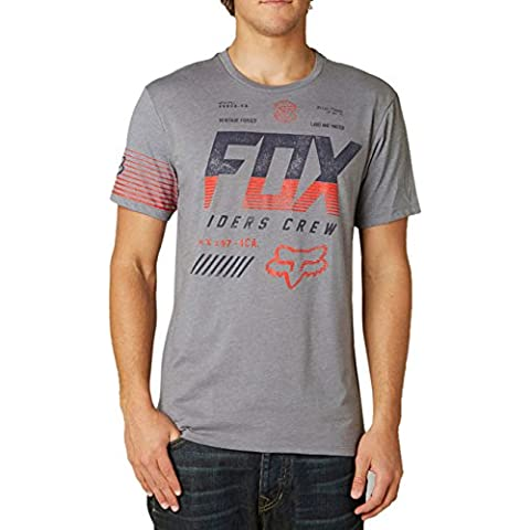 Fox - Camiseta - Casual - para hombre Heather Graphite M