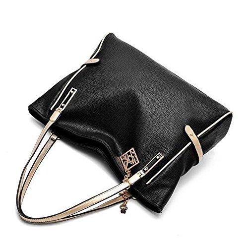Frau Handtasche Art und Weise Frauschultertasche Messenger Bag Black