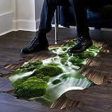 Saingace Wandaufkleber Wandtattoo Wandsticker,3D Stream Boden Wand Sticker abnehmbare Wandabziehbilder Vinyl Kunst Wohnzimmer Dekor