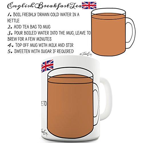 TWISTED ENVY Lustige Kaffee Tasse Becher Tea Recipe English Breakfast Keramiktasse