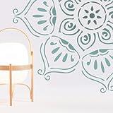 Stencil Pared Rosetón 008. Tamaño pequeño: stencil 50x50 cm, diseño 48x48 cm, figura 48x48 cm