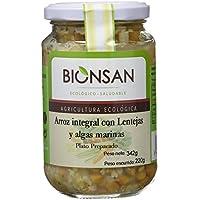 Bionsan Arroz Integral con Lentejas y Algas - 6 Paquetes de 220 gr - Total: 1320 gr