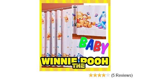 Gardine WINNIE POOH BABY 1 Teil 116B x 210L Kinderzimmer Vorhang ...