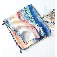 RU Weiblicher Schal Baumwolle und Leinen schal Sommer weiblich Tuxedo Muster strandtuch Garn Handtuch, klimatisierte Ferienwohnung sunscreen Schal