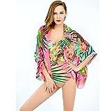 MEIXI-Une pièce maillots de bain Beach bikini chemisier châle maillot de bain Spa