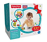 #1: Fisher Price 2 in 1 Gift Set with Baby's First Blocks and Mega Blocks, Multi Color