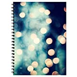 #7: Printelligent wire bound High quality notebook. SIZE A4 Large. 160 RULED PAGES inside. High definition Digital print cover with black metal wire-o binding. Collection of Lay flat design designer notepads/ composition notebooks/ memo pads/ planners/ doodle pads/ bullet journals.
