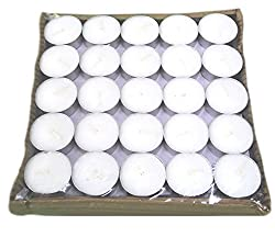 Pure Source India Micro 100 pcs pack of Tea Light Candles smokeless 3.5 hrs burning