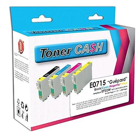 Pack 4Kompatible Druckerpatronen Epson T0715(Gepard)