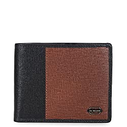 Da Milano Con and Black Mens - Wallet (MW-0493_CON/BLK_SAFFIANO)