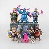 Figura de acción: Clash of Clans Pekka King Archer Wizard Witch Hog Rider Action Figure 8 Pcs