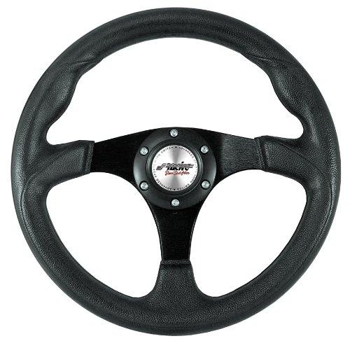 Simoni Racing Spa BPU320N Volant de Voiture Sportif Faux Leather, Noir,