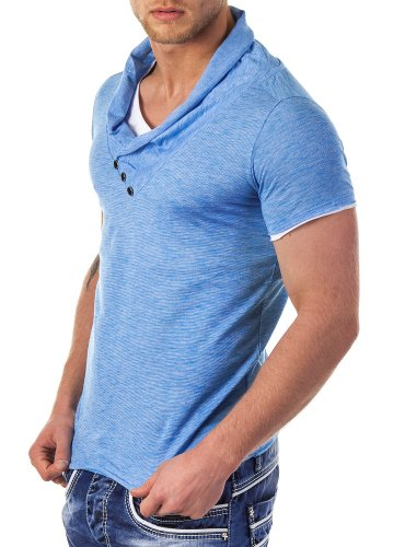 Redbridge by Cipo & Baxx Herren Shirt R-4T1223 blau
