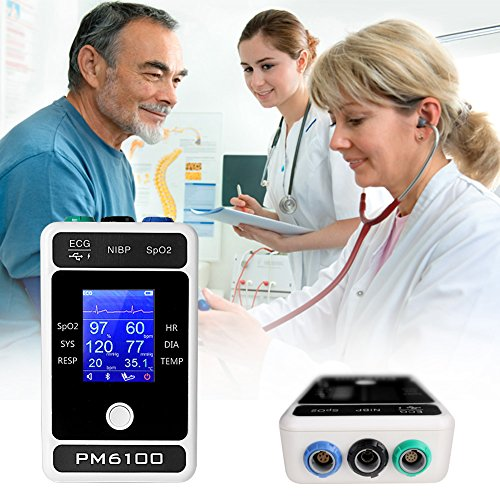 Cenblue Palm - Typ LCD Bildschirm Sechs Parameter Bluetooth EKG Blutdruck Pulse Rate Respiration Temperatur Monitor
