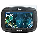 atFoliX Panzerfolie für Garmin Zumo 390LM Folie - 3 x FX-Shock-Clear stoßabsorbierende ultraklare Displayschutzfolie