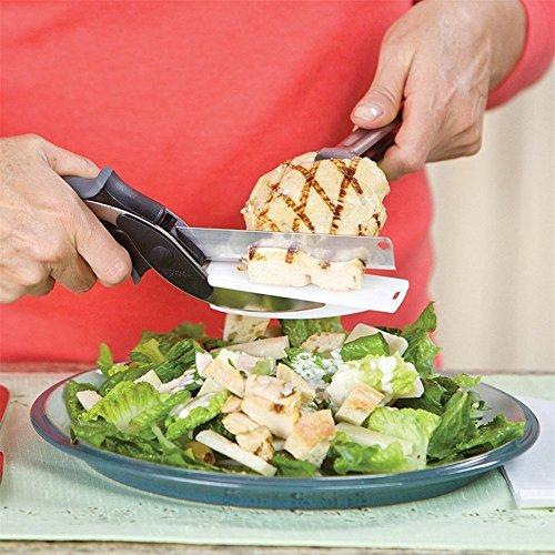 Hochwertige 2in 1Clever Cutter, Cutting Board Schere AS SEEN ON TV, Food Chopper Küchenmesser und Schneidebretter Complex - 3