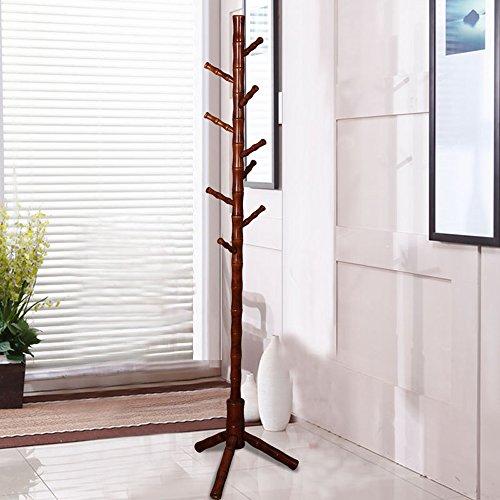 Garderobe vertikal Kleiderbügel Coat Racks im europäischen Stil Birke + europäischen Baum Wax rot gelb 9Haken Super Laden Kleidung Haken