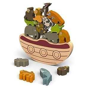 BeginAgain Balance Boat-Endang ered Animals Game and Play Set