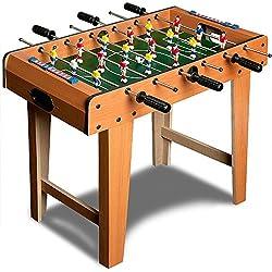Deuba Futbolín juego de mesa de madera baby foot infantil para niños 18 figuras robustas - medidas 69 x 62 x 37 cm