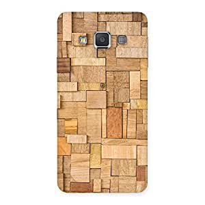 Cute Wood Blocks Pattern Back Case Cover for Galaxy A3