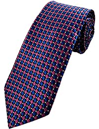 Collar and Cuffs London - High Quality Handmade Tie - Luxury Fashion Purple and Navy Blue Twin Spot Pattern