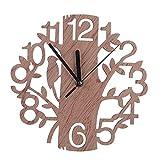 Likecom Orologio da parete in legno a forma di albero della novità immagine