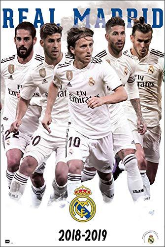 Close Up Póster Real Madrid - Equipo/Jugadores [Temporada