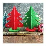 WUFANGFF Peu d'arbre De Noël Noël Couvertures Arbre De Noël Tissu Rouge Art Peu d'arbre De Noël Mini Bureau Petit Ornement,30Cm en C