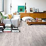 Quickstep IMU1861 - Suelo Laminado, diseño de madera, color gris claro, 12mm