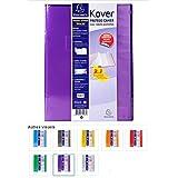 EXACOMPTA - 1 Protège cahier KOVER transparent - 24x32 cm - A rabats - 8 coloris disponibles - Attribution du coloris aléatoire