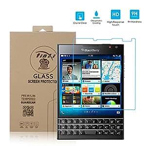 tinxi® Film de protection d'écran en verre trempé pour écran BlackBerry Passport (Q30) protecteur optimal et ultra dur protecteur d'écran en verre trempé transparent 2.5D (Pas pour BlackBerry Passport Silver Edition)