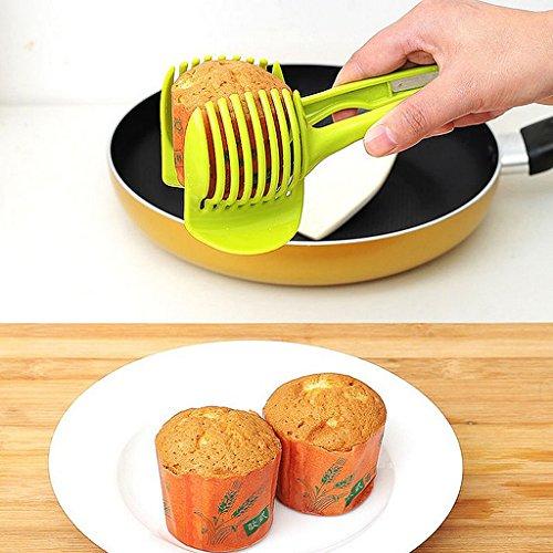MagiDeal Küche Obst Slicer Gemüse Tomate Clip Halter Zitrone Kartoffel Schneid Messerhalter Werkzeug - 4