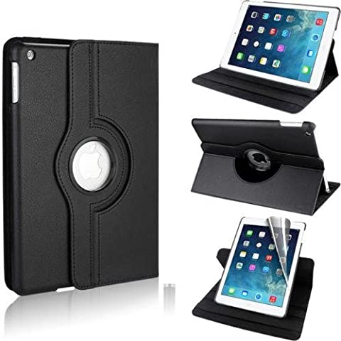 Smart Style Premium 360 Degree rotation Quality Black Horizontal & Vertical View Leather Cover For Apple iPad Air