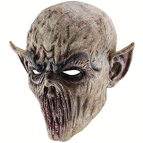 ZHANGDONGLAI Halloween Bloody Scary Horror Maske Erwachsene Zombie Monster Vampire Maske Latex Kostüm Party Vollkopf Cosplay Maske Maskerade Requisiten