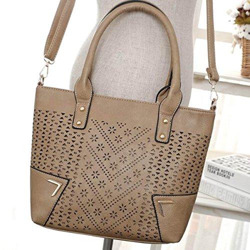 Damen Handtaschen Europäischen Und Amerikanischen Mode Leere Schulter Frauen Handtasche Schräge Kreuz Paket Darkapricot