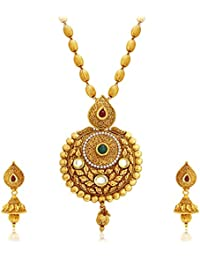 Sukkhi Astonish Gold Plated Kundan Necklace Set For Women