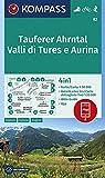 KOMPASS Wanderkarte Tauferer Ahrntal, Valle di Tures e Aurina: 4in1 Wanderkarte 1:50000 mit Aktiv Guide und Detailkarten inklusive Karte zur offline ... Skitouren. (KOMPASS-Wanderkarten, Band 82)