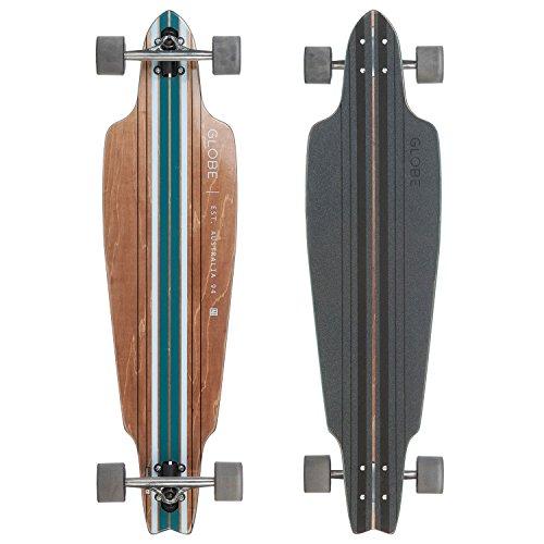 Globe Longboard | Prowler Brown/Blue Bamboo Komplettboard | Größe: 95,5 cm x 25,4 cm | Farbe: braun/blau