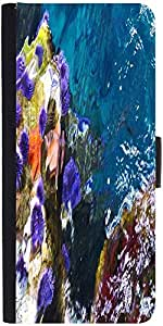 Snoogg Abstract Underwater Graphic Snap On Hard Back Leather + Pc Flip Cover ...