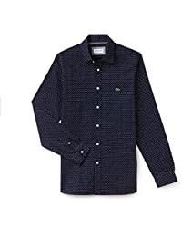 a13a5465bfb Lacoste Men s Motion Slim Fit Printed Shirt