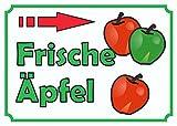 Verkaufsschild Äpfel rechts A4 Rückseite selbstklebend