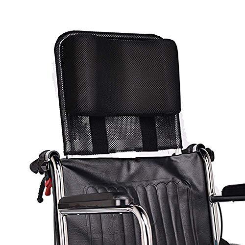 Rollstuhl-Kopfstütze Nackenstütze Kopfpolster verstellbar und tragbar für Erwachsene, 40,6-50,8 cm Rollstuhl-Kissen Universalzubehör (Black)